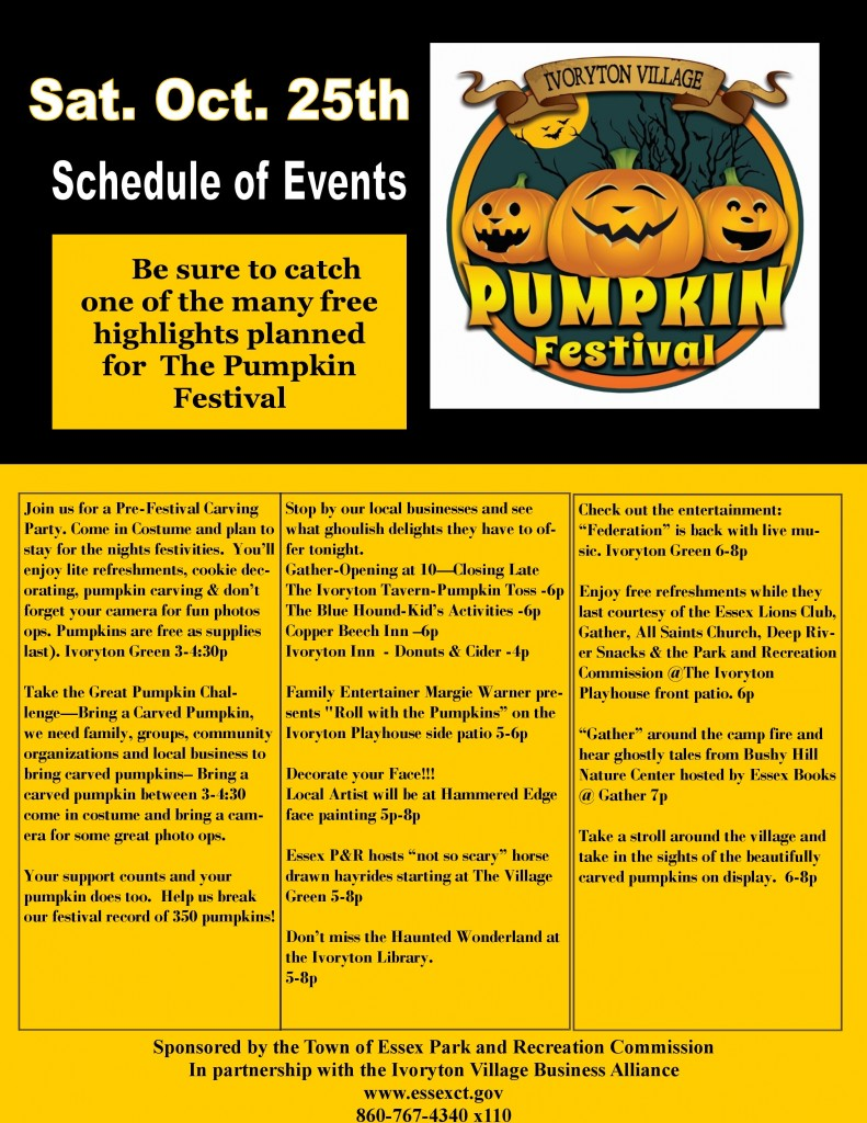 2014 10.16.14 Ivoryton Village  Pumpkin Festival Schedule of Events-1-page-0